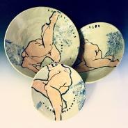 Sroka_Nesting Platters with Figure